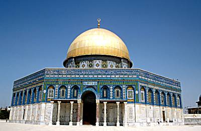 Al-Aqsa Mosque or Dome of the Rock, site of Soloman's Temple