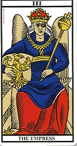 Tarot Card. Fortune, Empress of the World